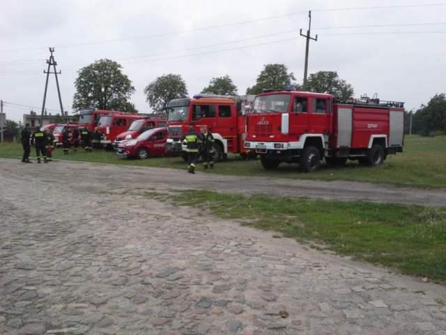 ćwiczenia straży pożarnej - Mosina, Pożegowo