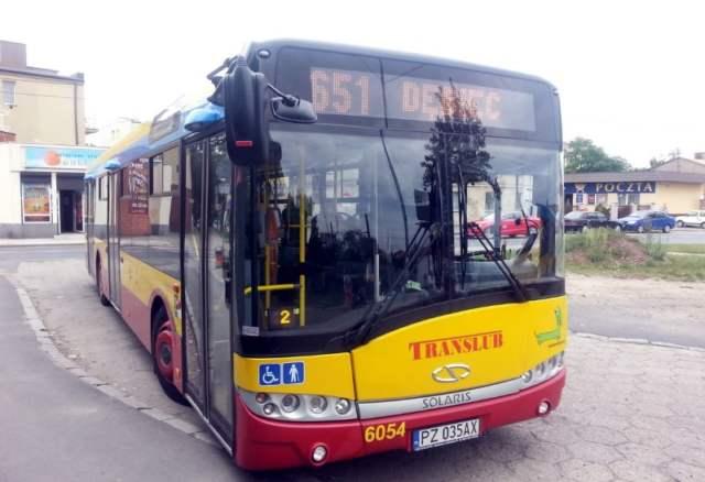 Autobus linii 651- nocny kurs do Mosiny i Puszczykowa