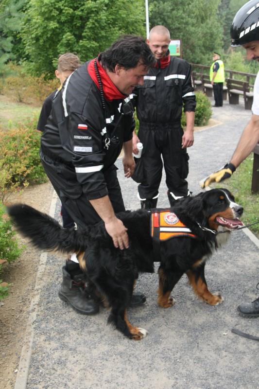 Sekcja Poszukiwawczo Ratownicza Ochotniczej Straży Pożarnej w Mosinie z psem