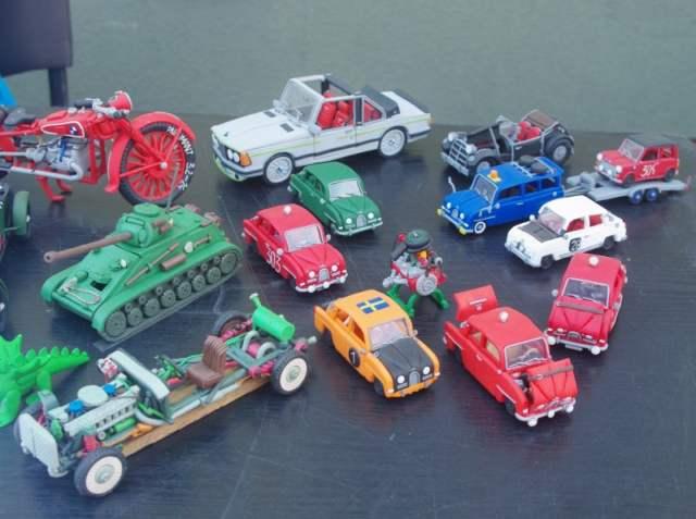samochody - resoraki z modeliny, plasteliny