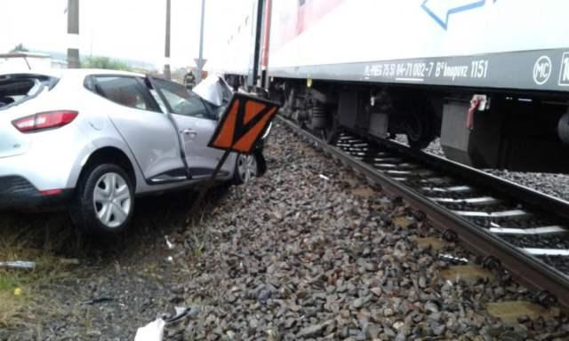 wypadek w Krośnie - wrak pojazdu