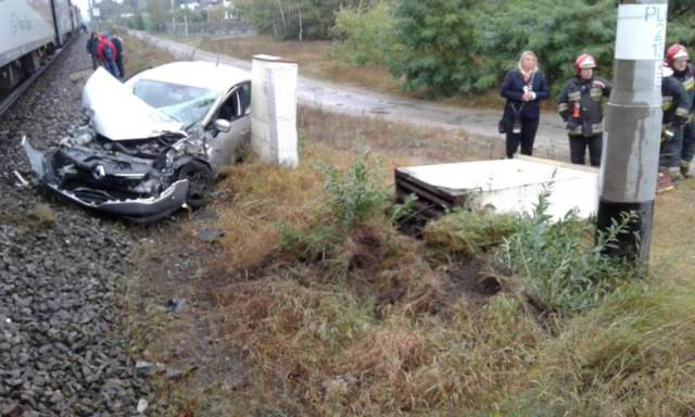 Krosno: wypadek na przejeździe kolejowym