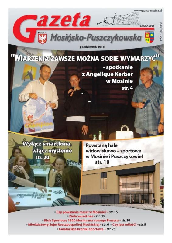 Październik - wydanie Gazety Mosińsko-Puszczykowskiej