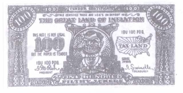 banknot - fałszywy dolar