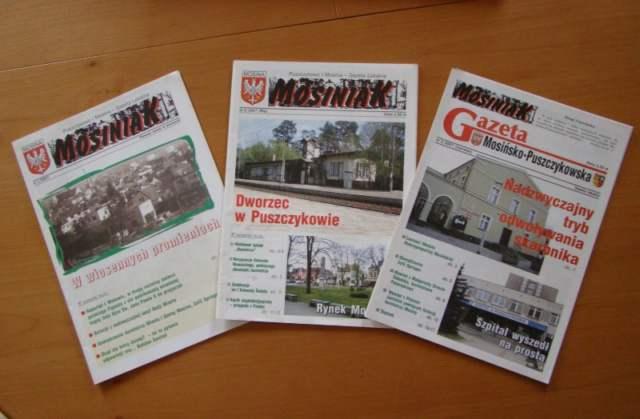 najstarsze numery Gazety Mosińsko-Puszczykowskiej