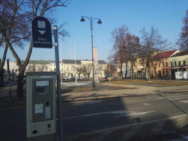 Strefa płatnego parkowania - Plac 20 Października w Mosinie