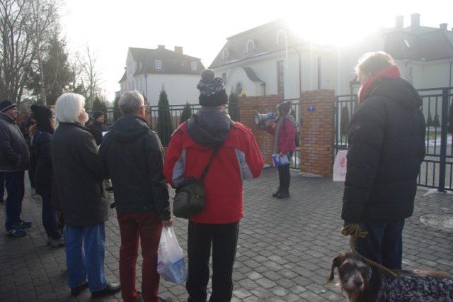 protest w Puszczykowie przeciwko pedofilii