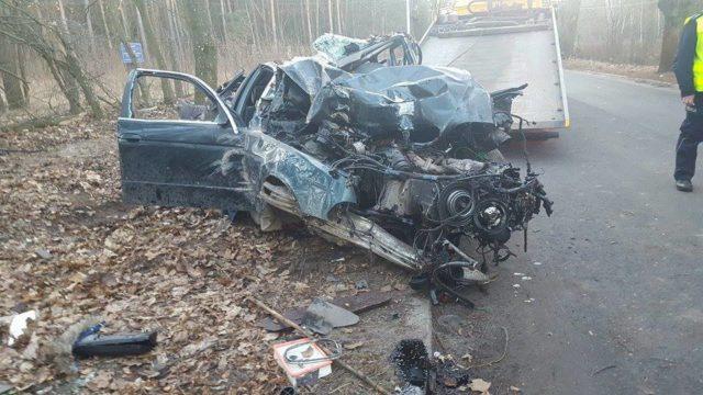BMW pod wypadku - Sowiniec (gm. Mosina)