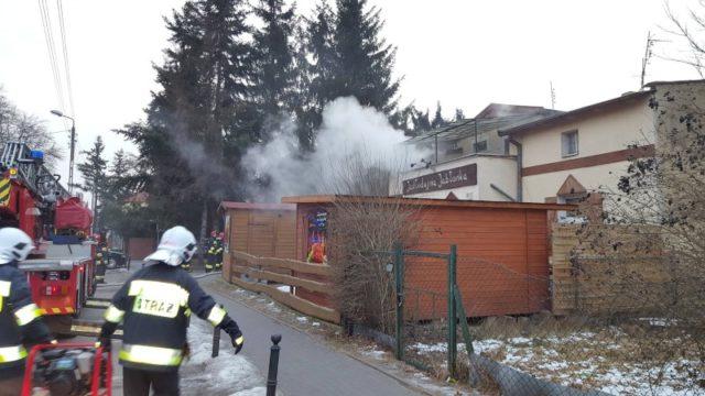 Lokal po pożarze w Puszczykowie