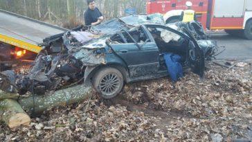 Wrak pojazdju po wypadku