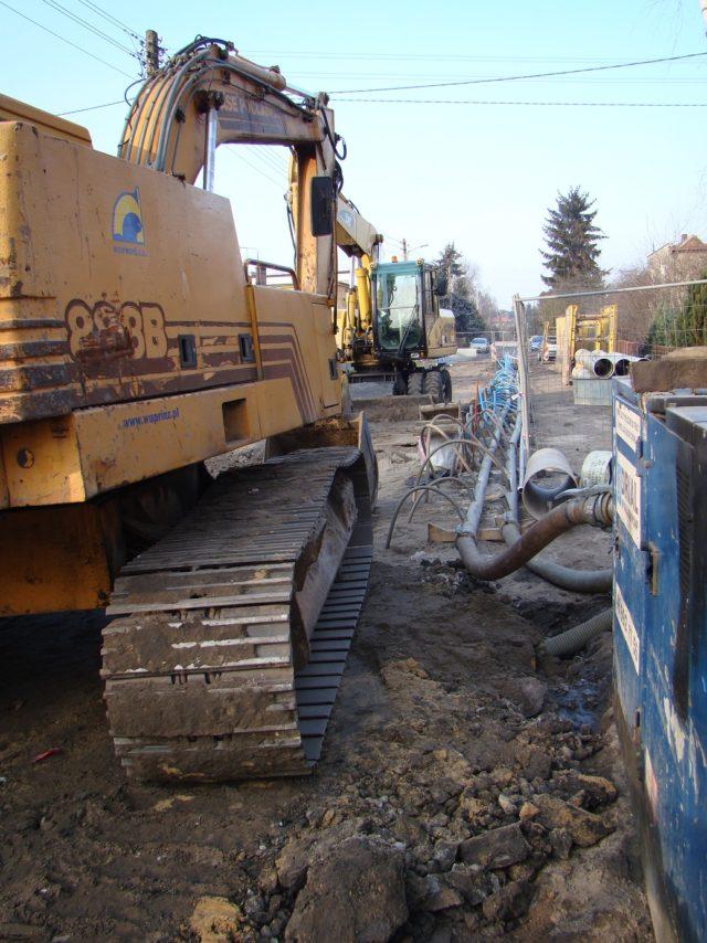 ul. Wodna - prace budowlane
