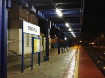 peron na dworcu w Mosinie po modernizacji