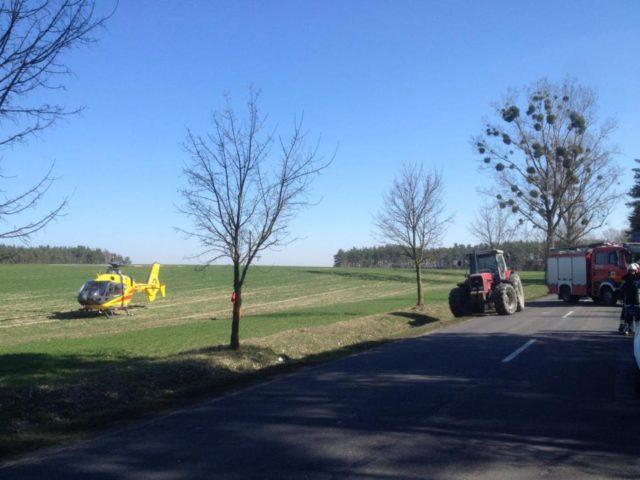 lądowanie helikoptera z Lotniczego Pogotowia Ratunkowego