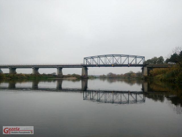 most w Rogalinku - widok z rzeki od strony Puszczykowa