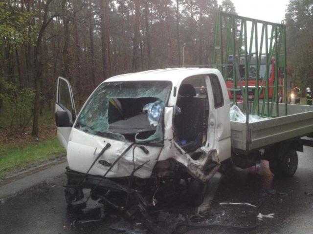Wypadek na trasie Mosina - Puszczykowo - KIA