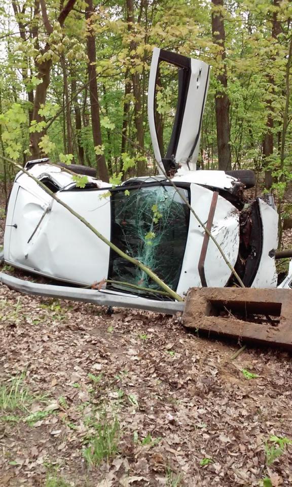 Renault Clio po wypadku