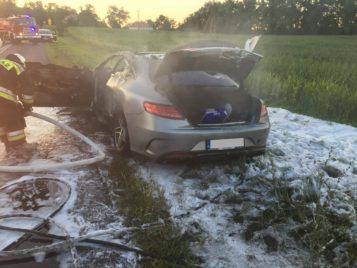 spalony samochód (Łódź)