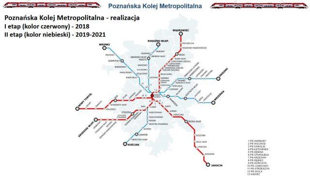 Poznańska Kolej Metropolitalna - plan
