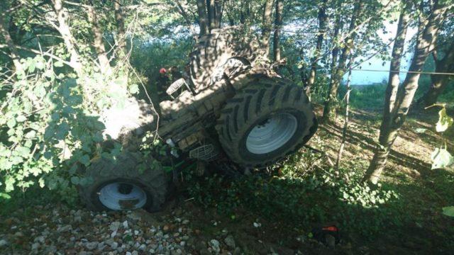 traktor - wypadek