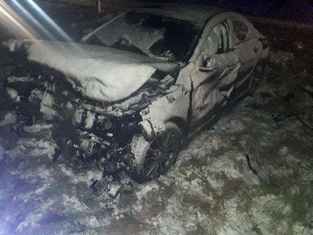 wypadek - wrak pojazdu