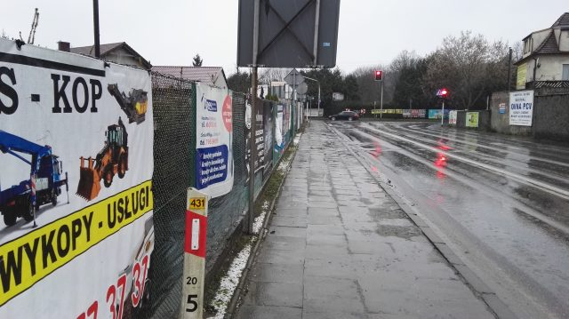 Skrzyżowanie ulic Mocka i Szosy Poznańskiej