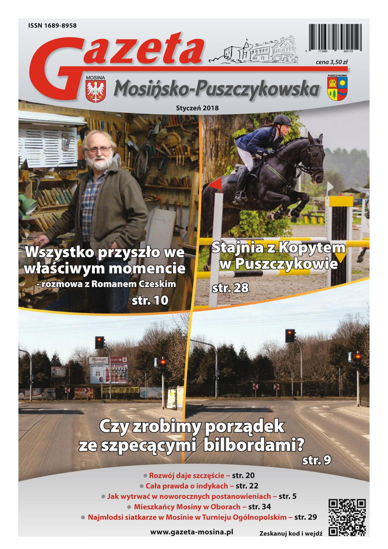 Gazeta Mosińsko-Puszczykowska wydanie Styczeń 2018