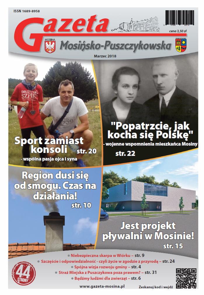 wydanie marcowe  Gazety Mosińsko-Puszczykowskiej (2018 r.)