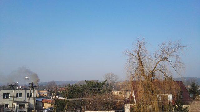 zanieczyszczone powietrze - Mosina