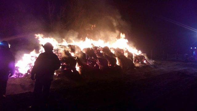 pożar słomy Dymaczewo Stare