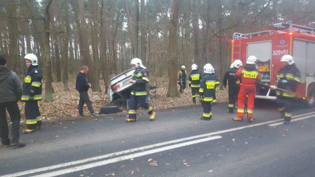 wypadek bmw - działania ratownicze