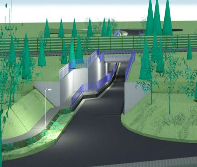 wizualizacja tunelu pod torami na ul. 3 maja