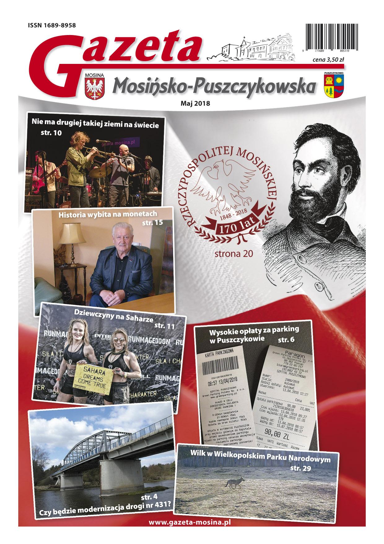 majowe wydanie Gazety Mosińsko-Puszczykowskiej