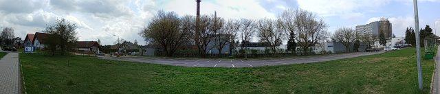 Płatny parking w Puszczykowie - zdjęcie panoramiczne