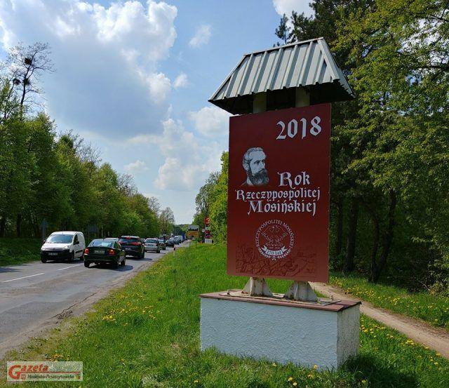 droga nr 431 przy ul. Mocka (Orlen) - wjazd do Mosiny