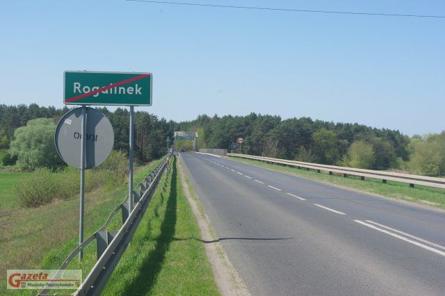 Rogalinek - droga nr 431 - widok na most