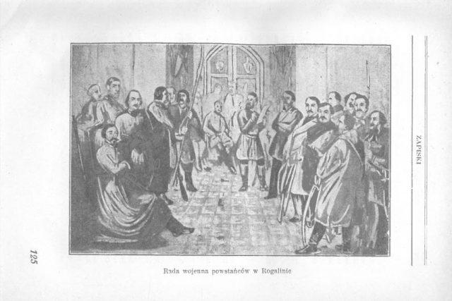 Rada wojenna powstańców w Rogalinie