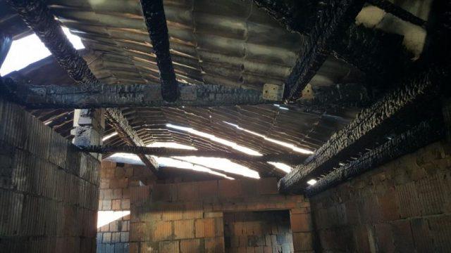 zniszczenia w wyniku pożaru fot. JRG-0 Mosina