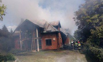 Pożar domu OSP Pecna