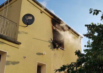 Pożar budynku mieszkalnego w Wirach