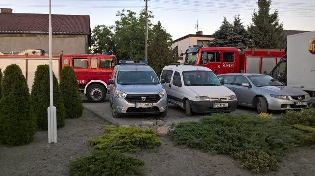 interwencja nad Wartą we wsi Wiórek (gmina Mosina)