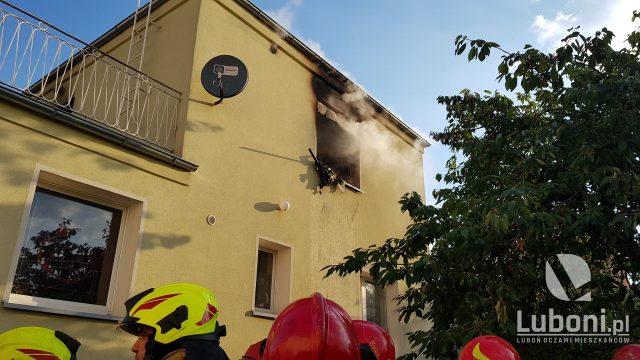 Pożar przy ulicy Kościuszki w Wirach