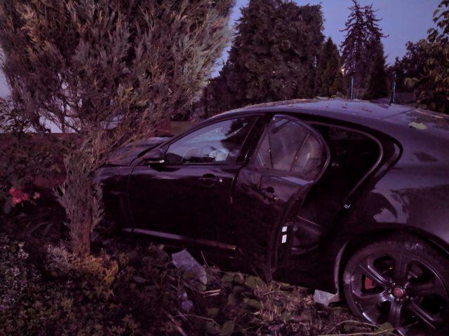 pojazd po wypadku wypadek na ul. Leszczyńskiej w Mosinie