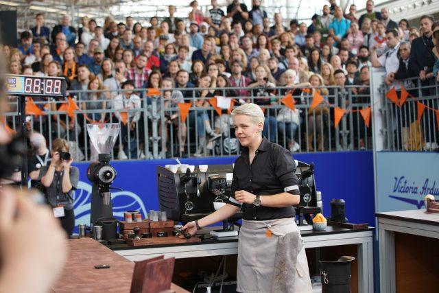 Agnieszka Rojewska podczas zawodów w Amsterdamie