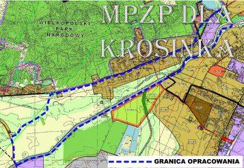 plan zagospodarowania przestrzennego we wsi Krosinko