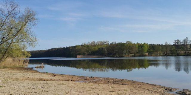 Jezioro Chomęcickie plaża