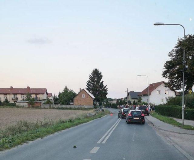 Miejsce zdarzenia - wypadek w Wirach