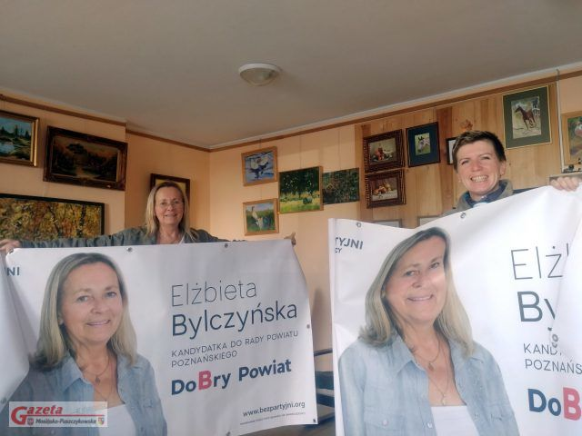 Elżbieta Bylczyńska - kandydatka do Rady Powiatu i Marta Mrowińska Redaktor Naczelna GMP