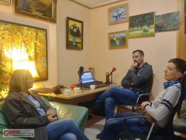 Audycja w redakcji Gazety Mosińsko-Puszczykowskiej