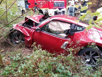 wrak pojazdu po wypadku