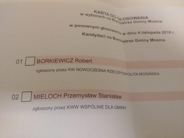 lista wyborcza Mieloch vs Borkiewicz